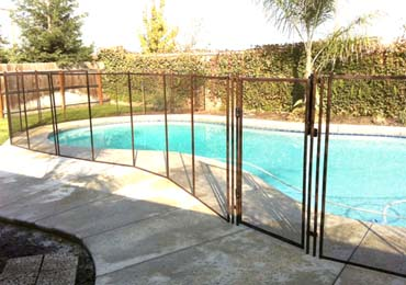 Brown Pool Fences